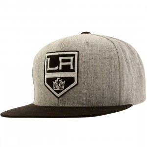 Mitchell And Ness Los Angeles Kings Heather Micro QS Snapback Cap (gray)