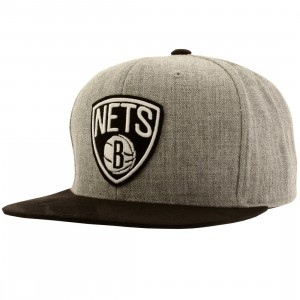 Mitchell And Ness Brooklyn Nets Heather Micro QS Snapback Cap (gray)